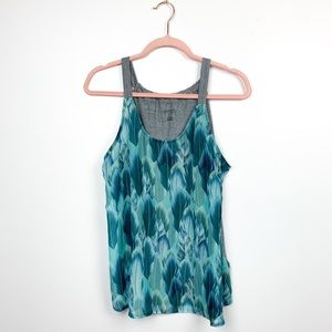 Roper Blue & Grey Feather Patterned Tank Top